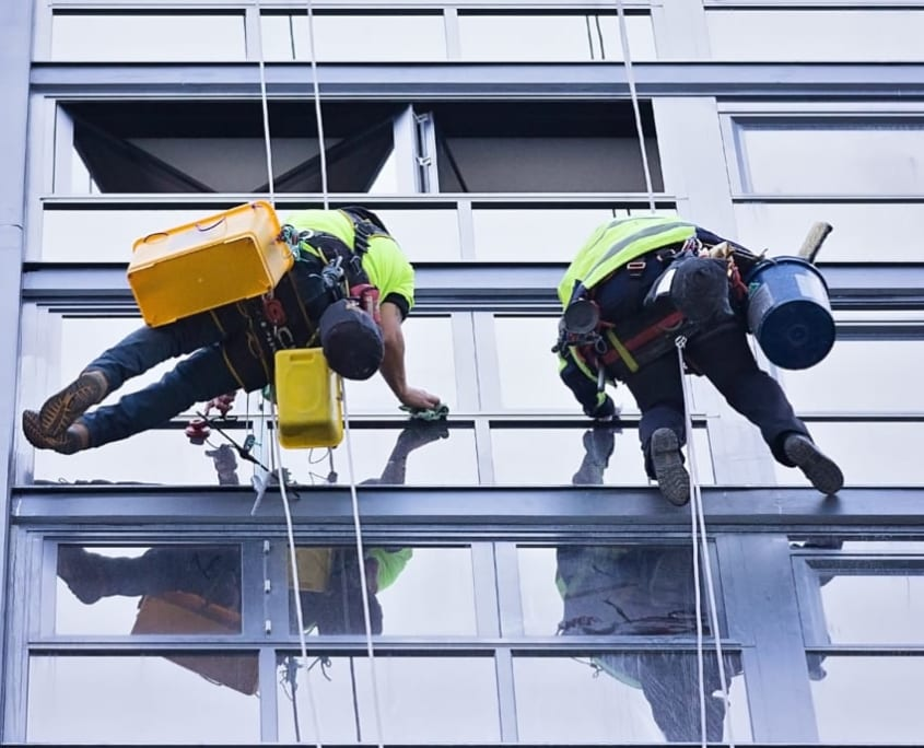 Rope Access Cleaning - High Rise Buildings Queensland