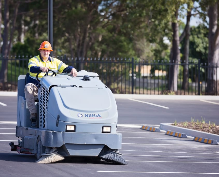 Facility Maintenance Cleaning Machines - Ride on Sweepers